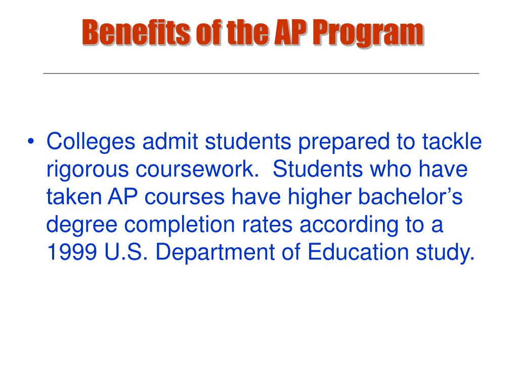 Benefits of the AP Program