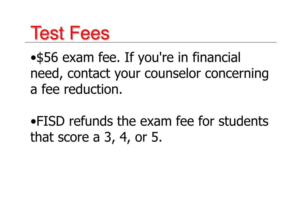 Test Fees