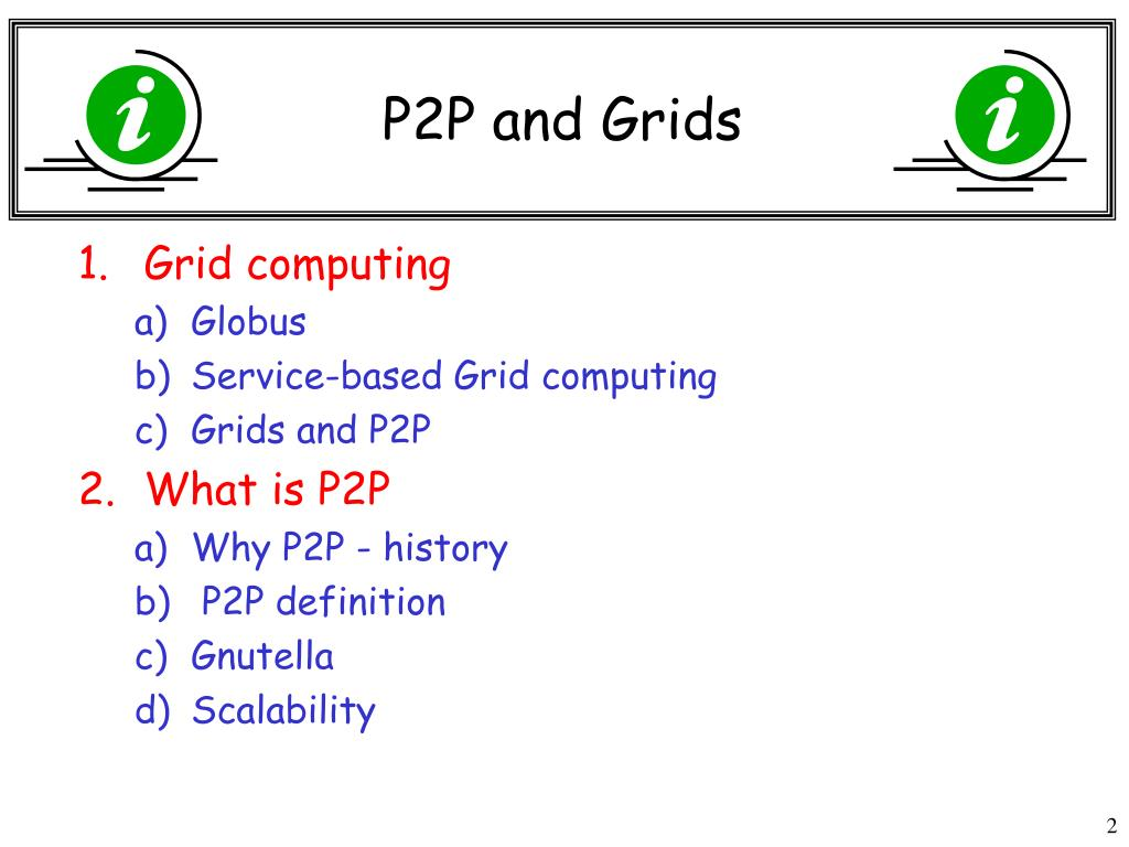 P2P and Grids