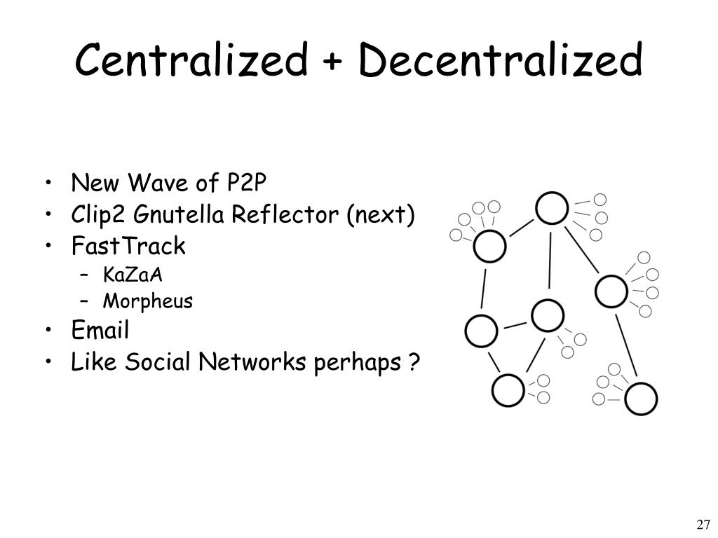 Centralized + Decentralized