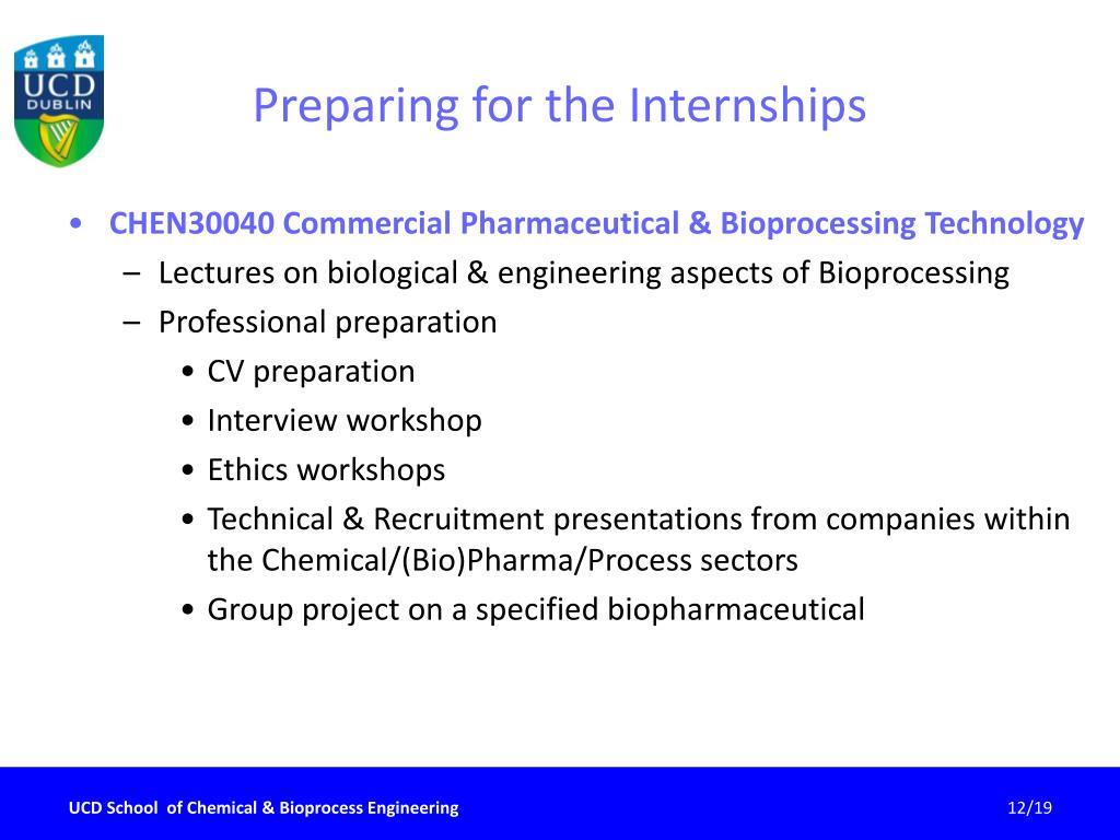 Preparing for the Internships