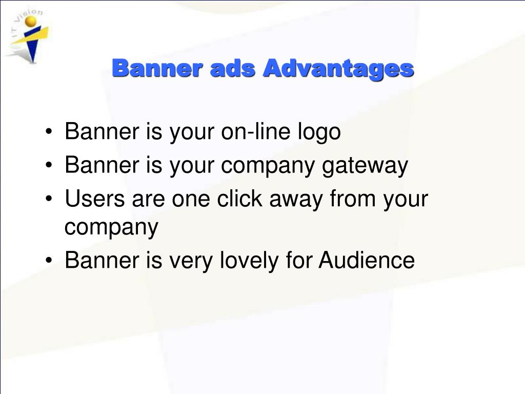 Banner ads Advantages
