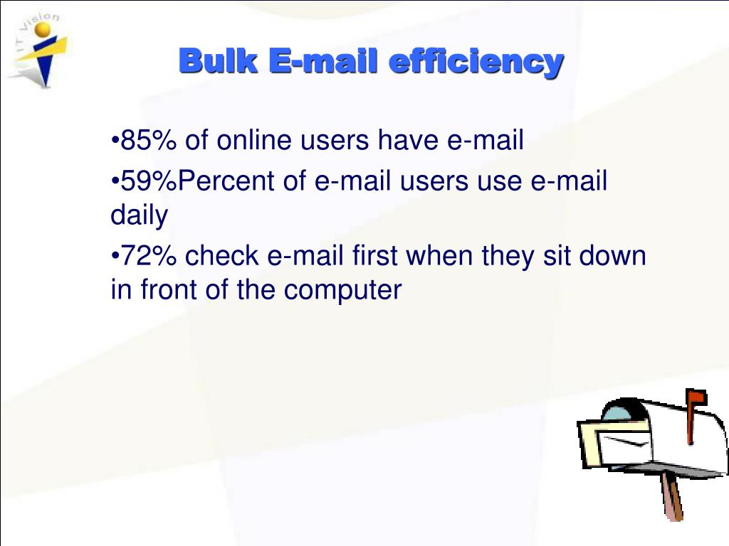 Bulk E-mail efficiency