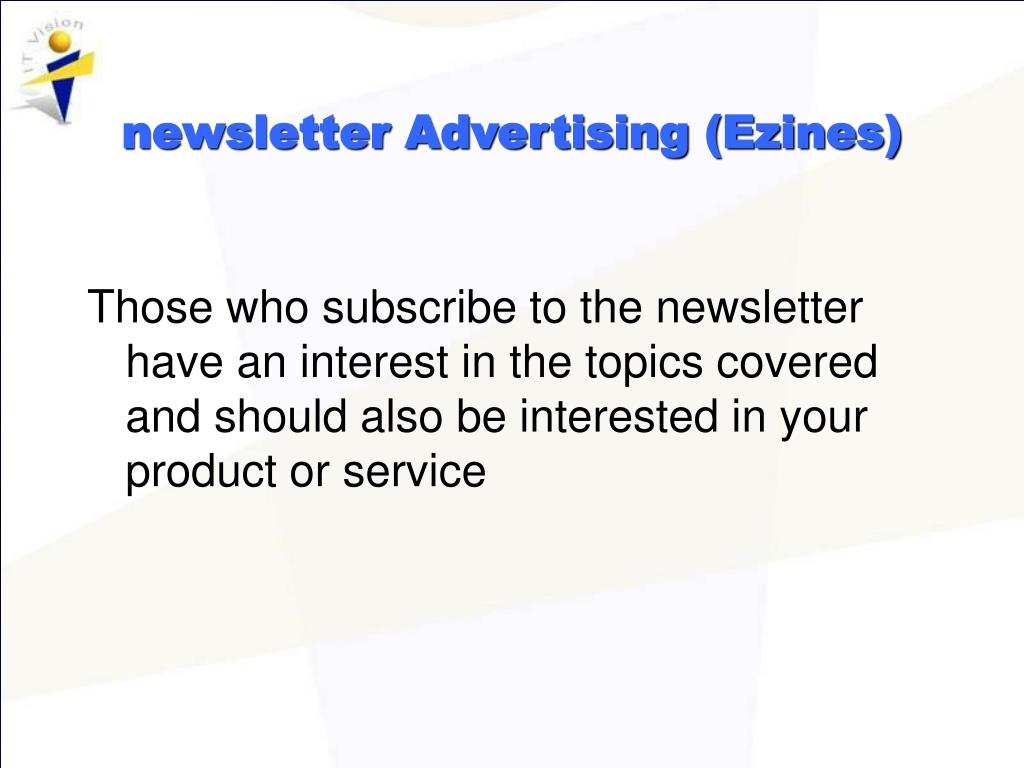 newsletter Advertising (Ezines)
