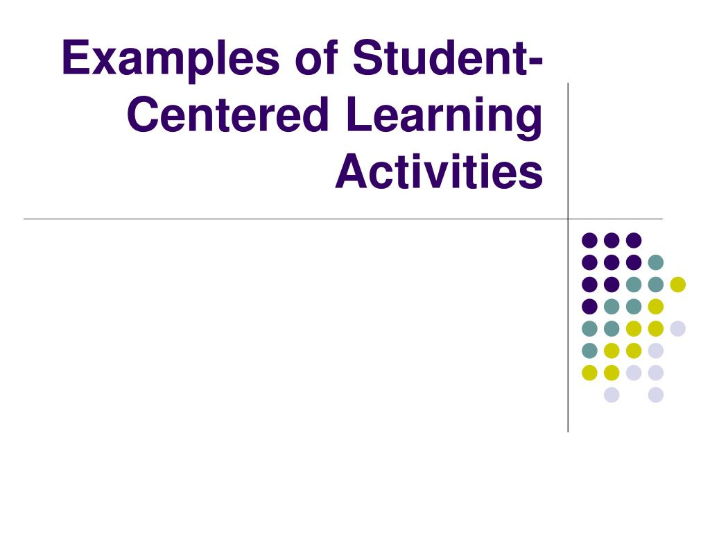 Examples of Student-Centered Learning Activities