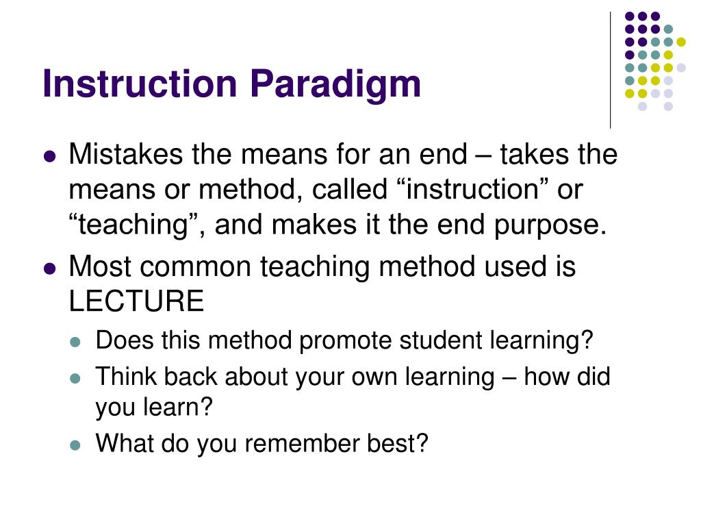 Instruction Paradigm
