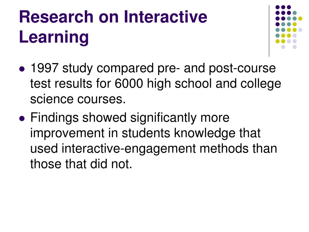 Research on Interactive Learning