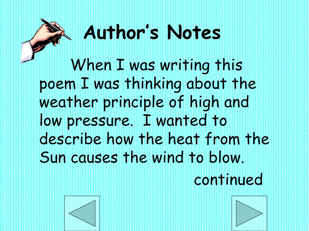 Author's Notes