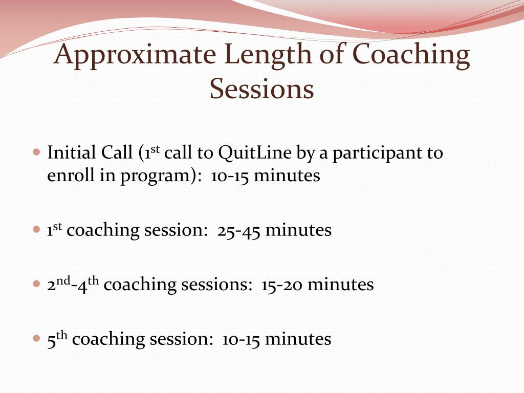 Approximate Length of Coaching Sessions