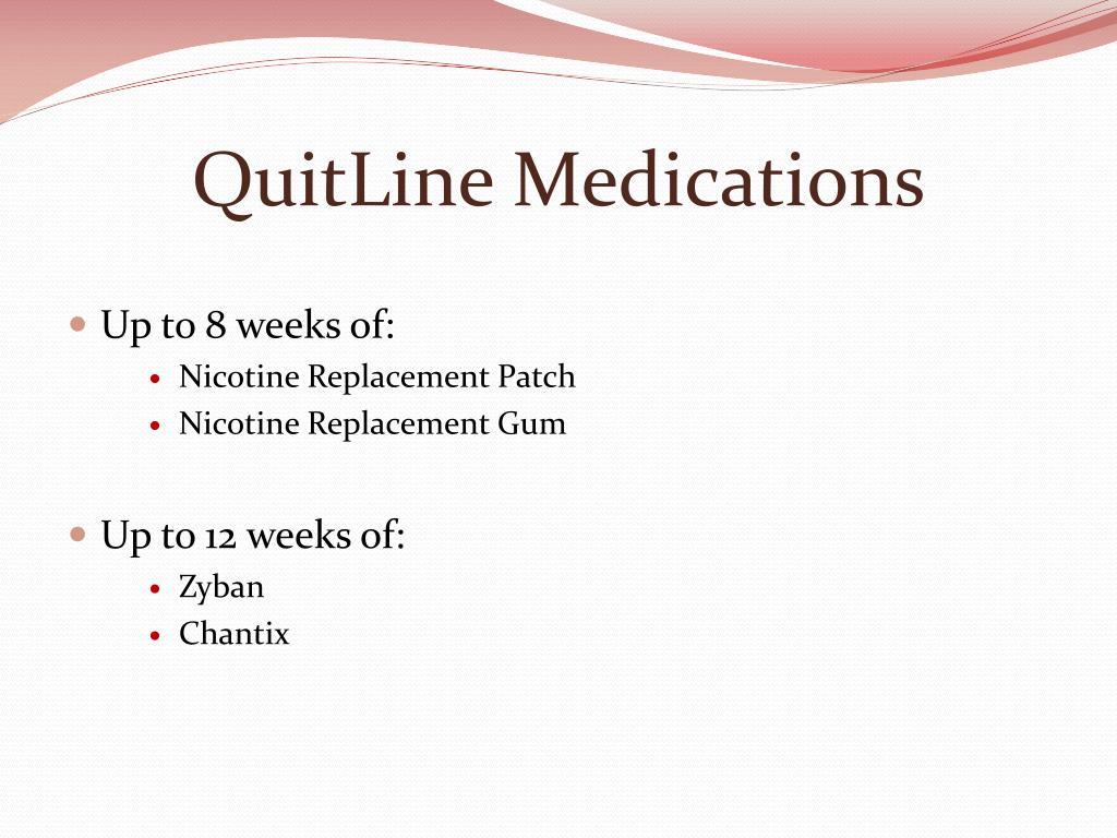 QuitLine Medications