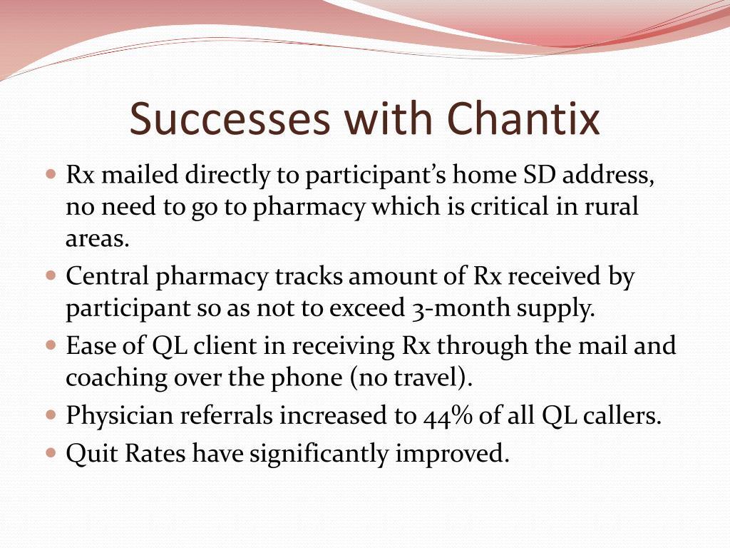 Successes with Chantix