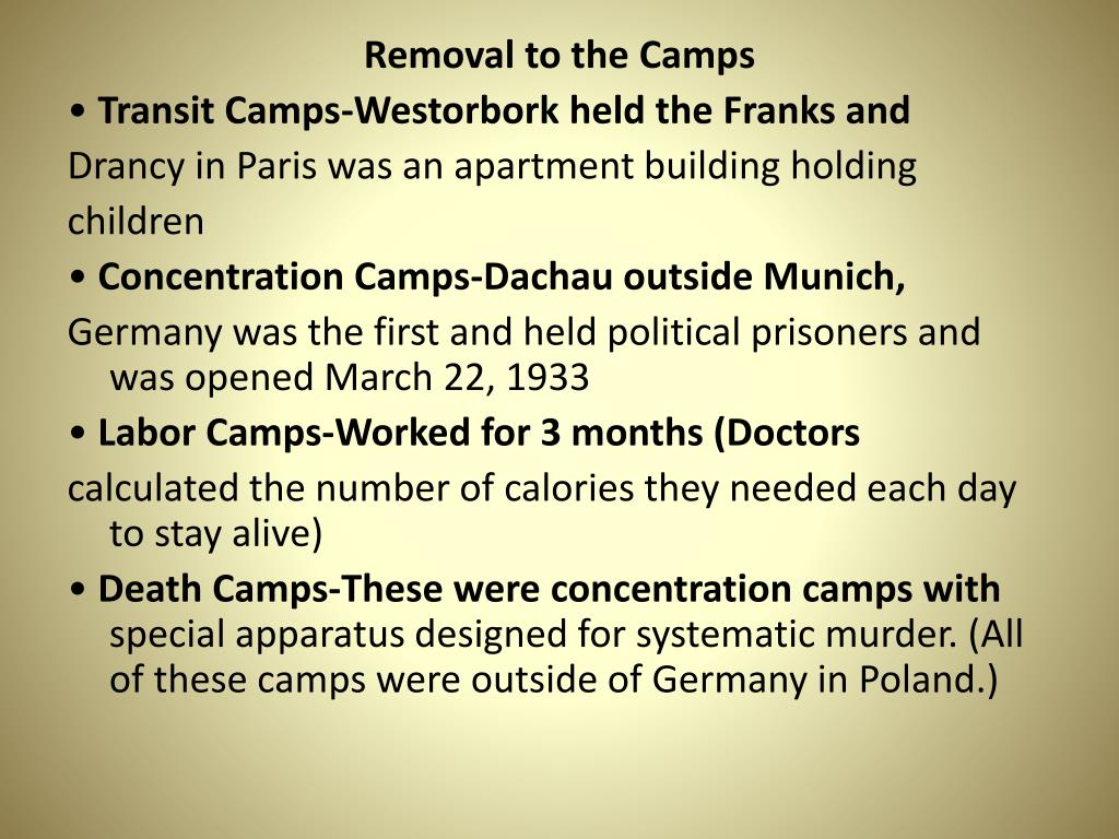 Removal to the Camps