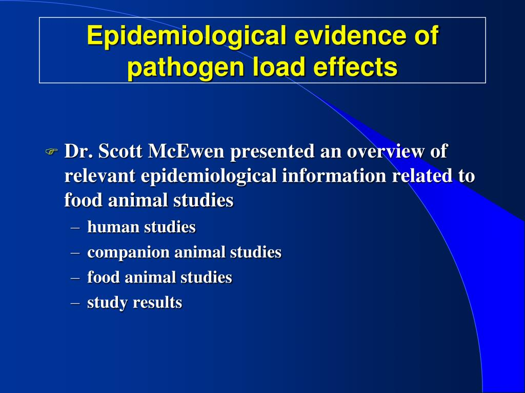 Epidemiological evidence of pathogen load effects