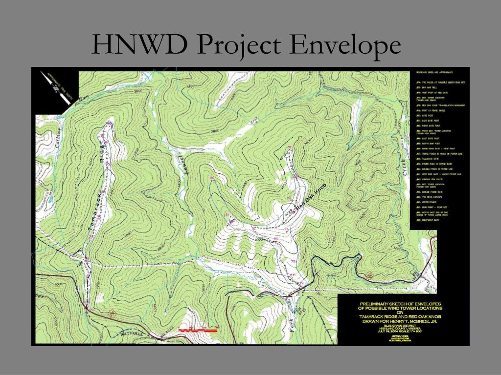 HNWD Project Envelope