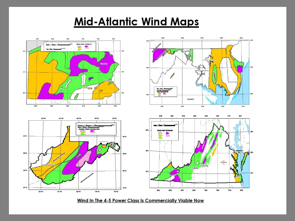 Mid-Atlantic Wind Maps