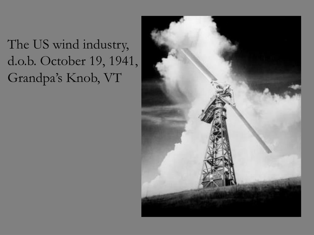 The US wind industry,