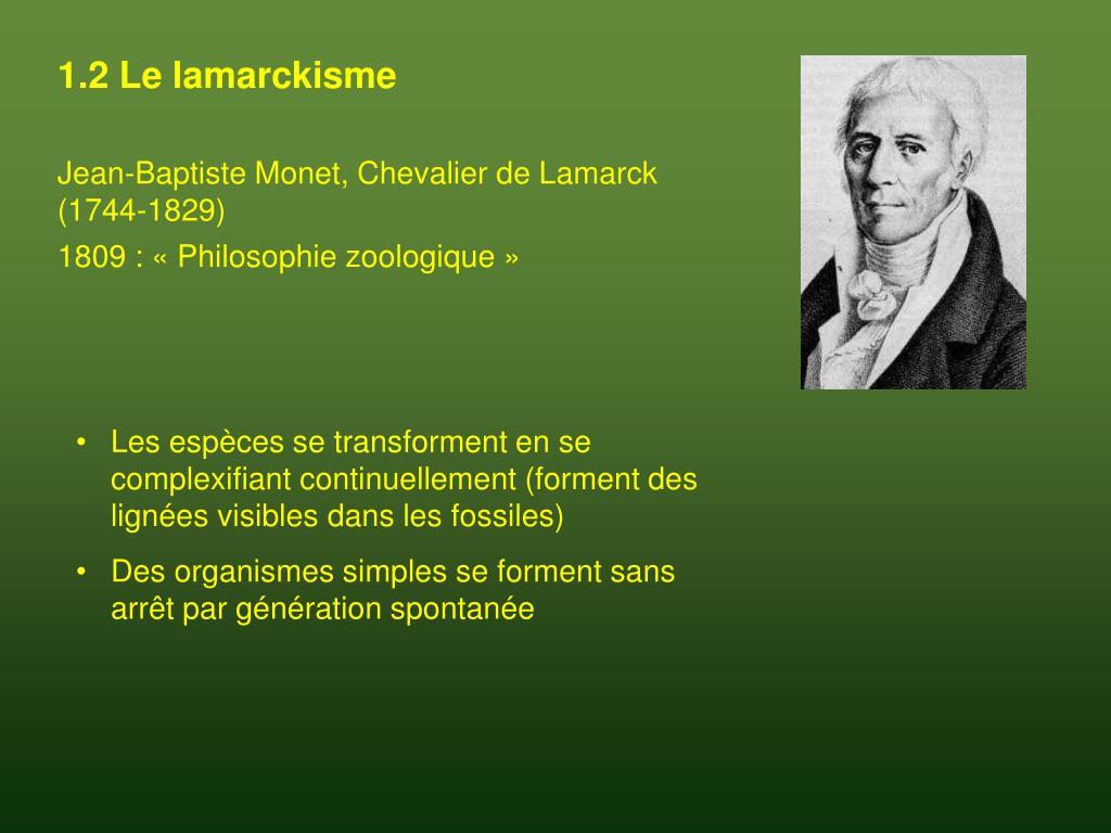 1.2 Le lamarckisme