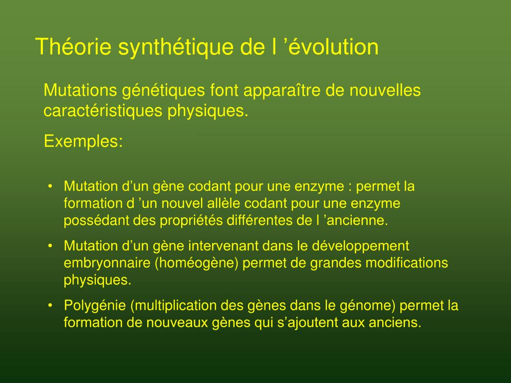 Théorie synthétique de l'évolution