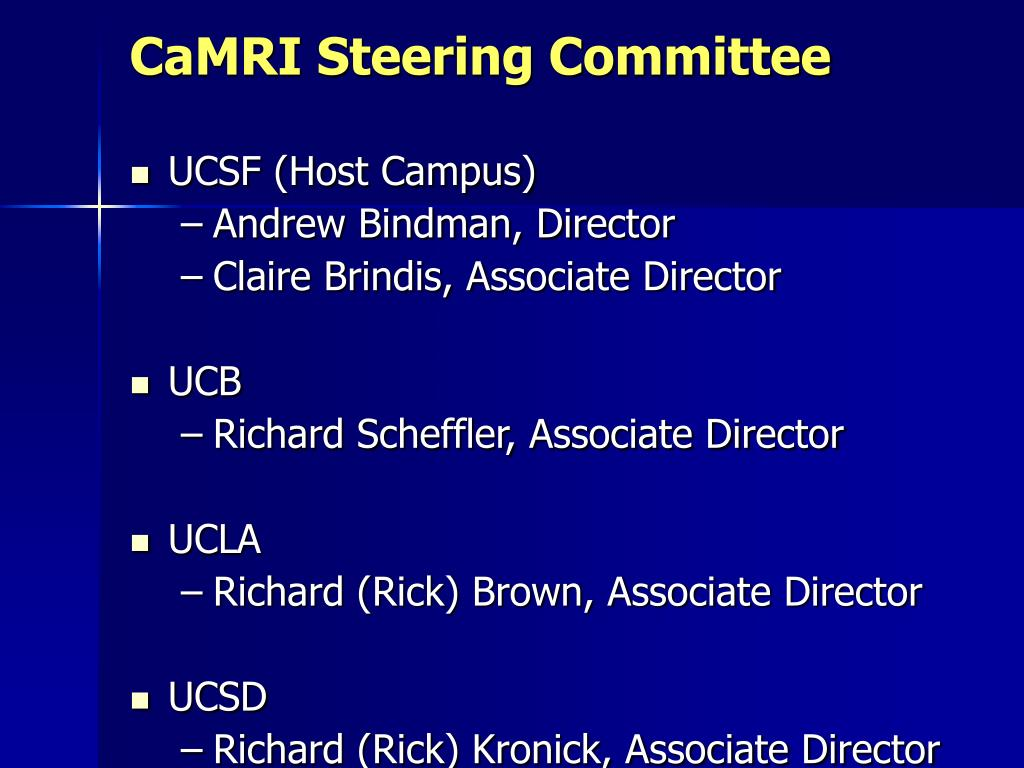 CaMRI Steering Committee