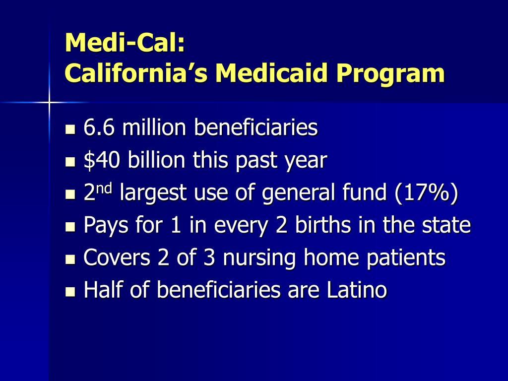 Medi-Cal: