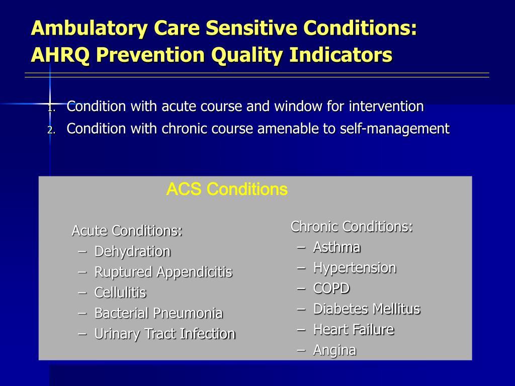 ACS Conditions
