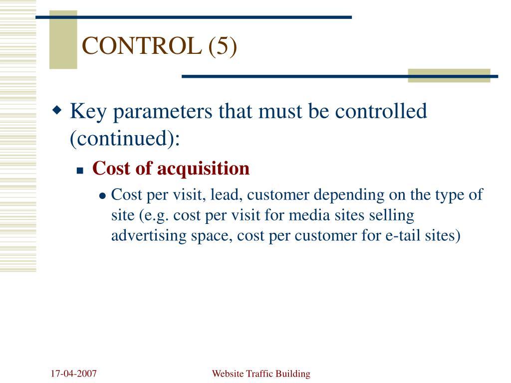 CONTROL (5)
