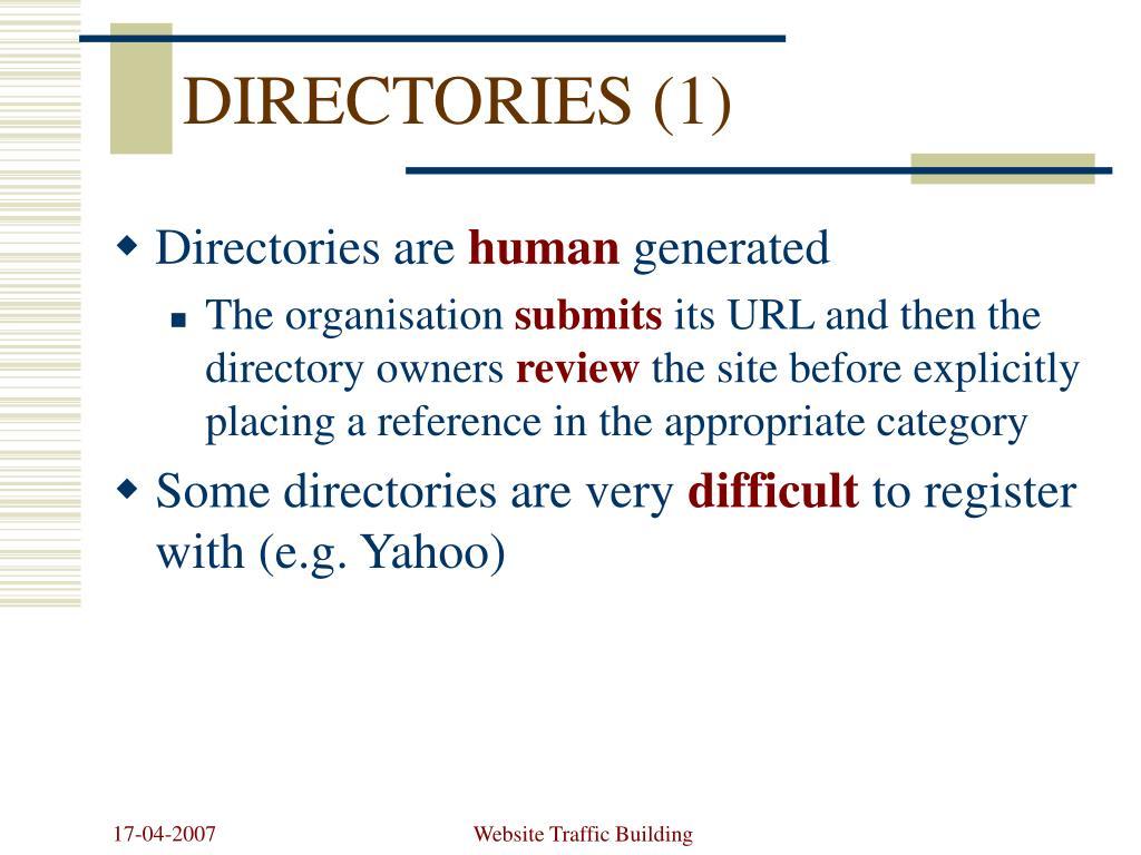 DIRECTORIES (1)