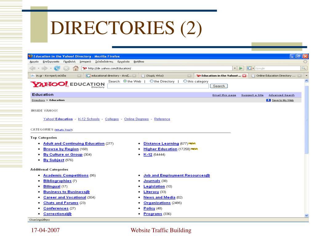 DIRECTORIES (2)