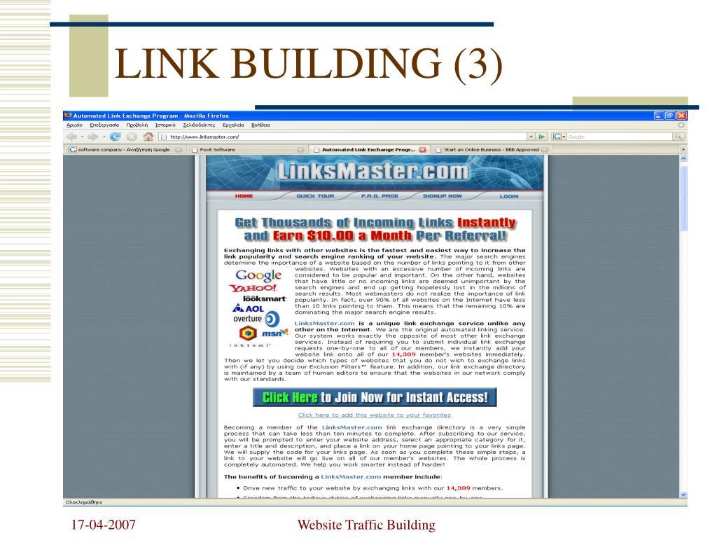 LINK BUILDING (3)