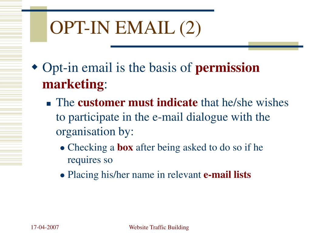 OPT-IN EMAIL (2)