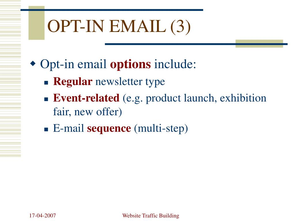 OPT-IN EMAIL (3)
