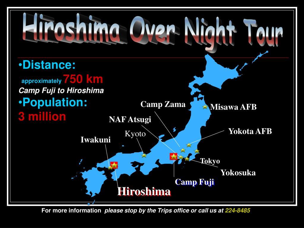 Hiroshima Over Night Tour