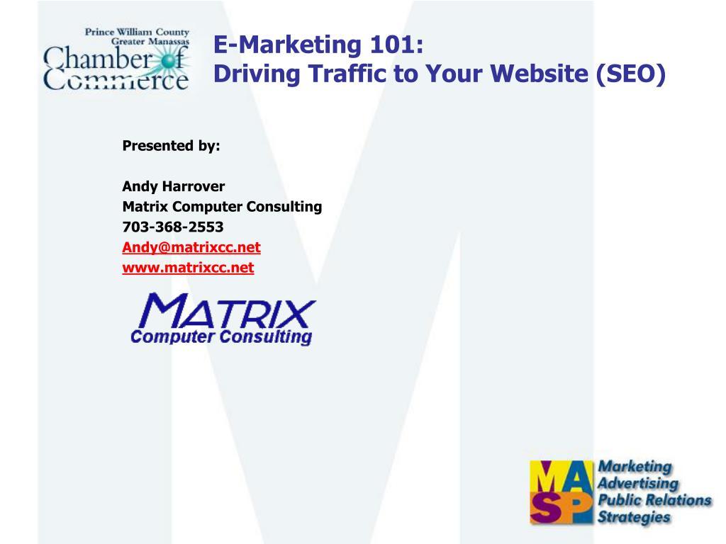E-Marketing 101:
