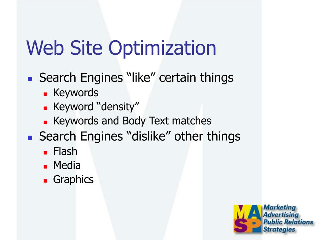 Web Site Optimization