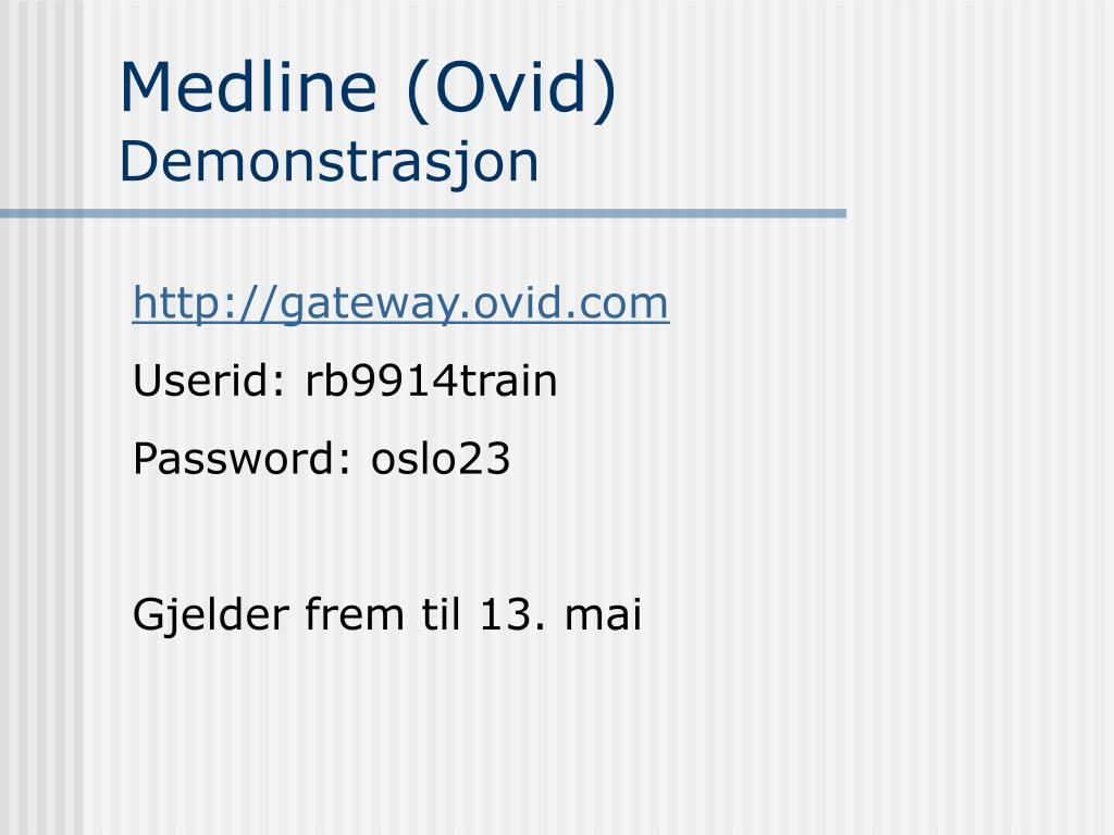 Medline (Ovid)