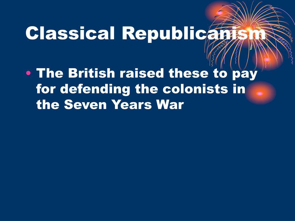 Classical Republicanism