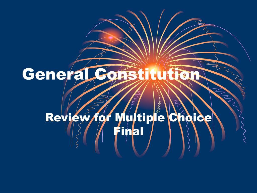 General Constitution