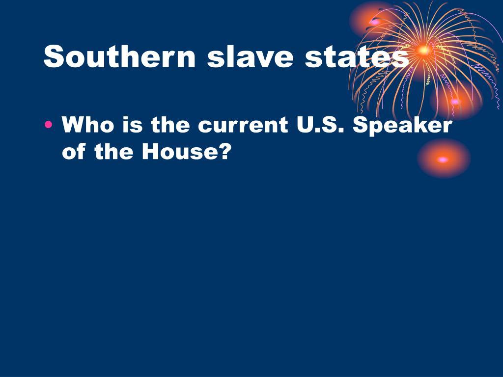 Southern slave states