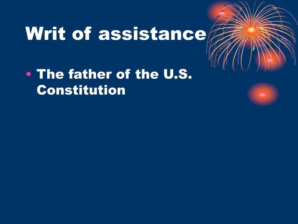 Writ of assistance