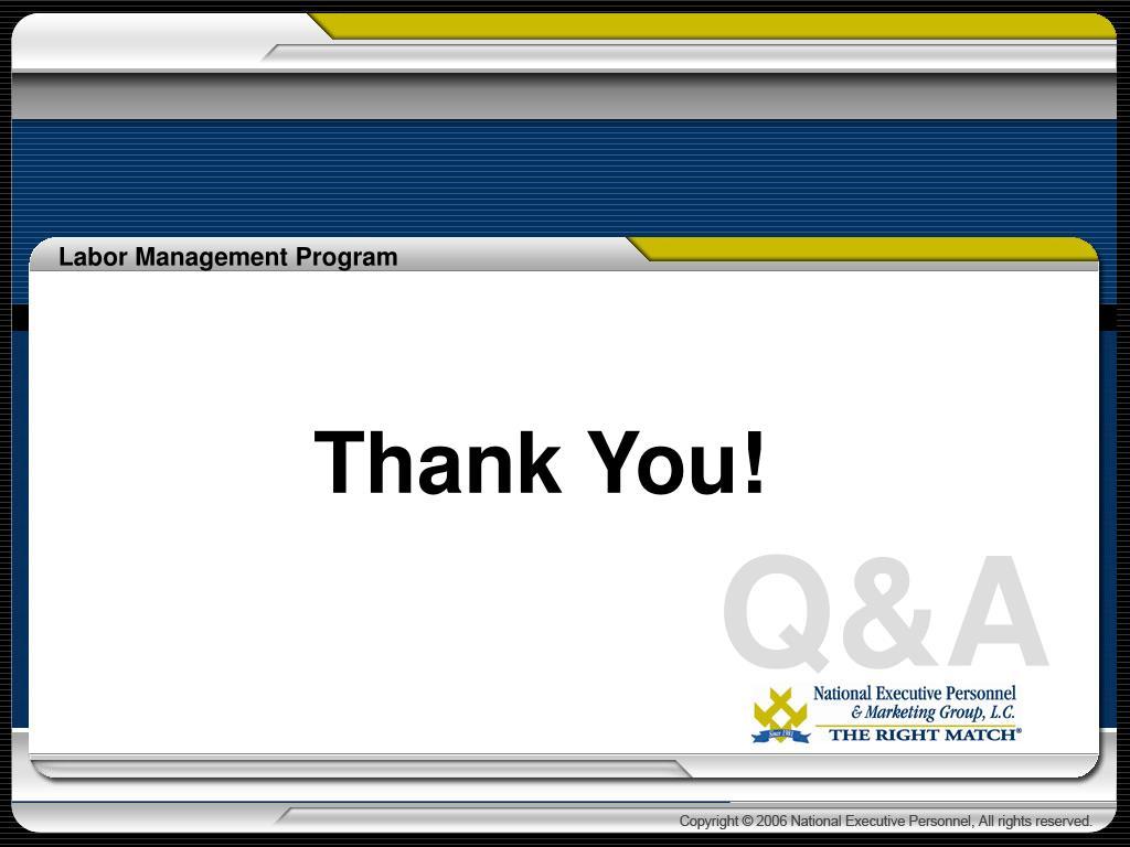 Labor Management Program