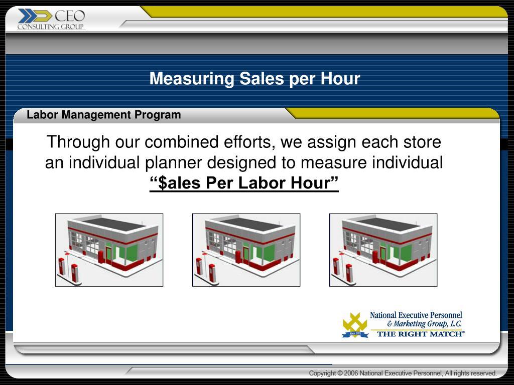 Measuring Sales per Hour