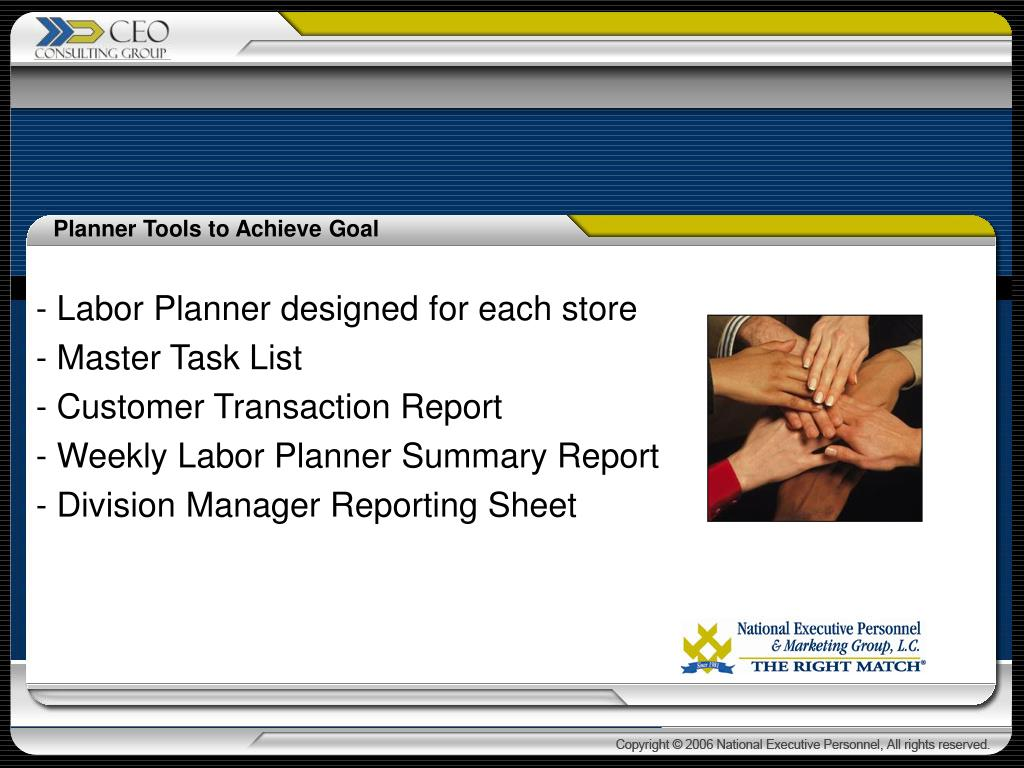 - Labor Planner designed for each store