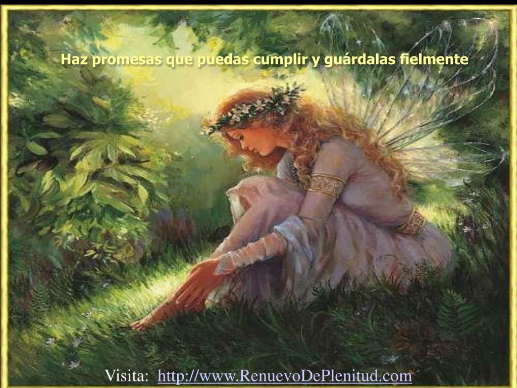 Haz promesas que puedas cumplir y guárdalas fielmente