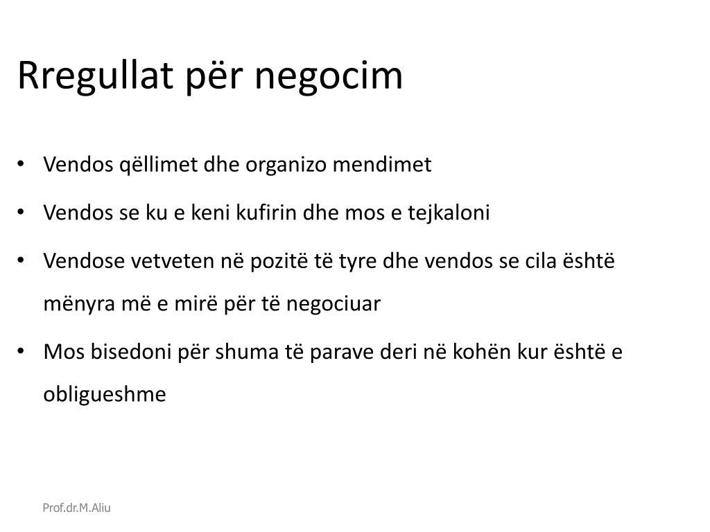 Rregullat për negocim
