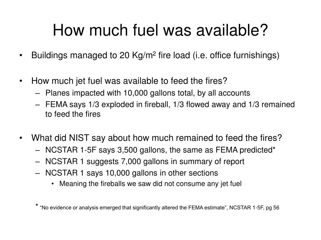 How much fuel was available?