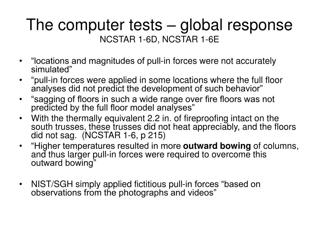 The computer tests – global response