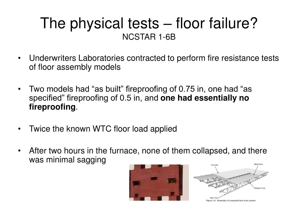 The physical tests – floor failure?