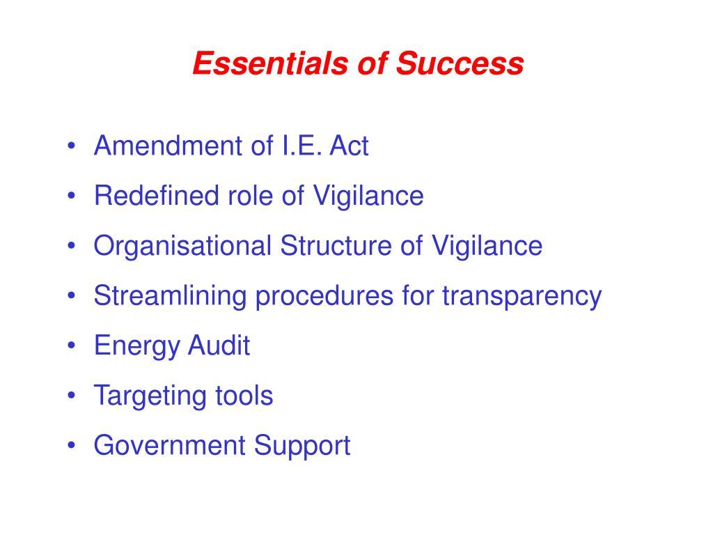 Essentials of Success