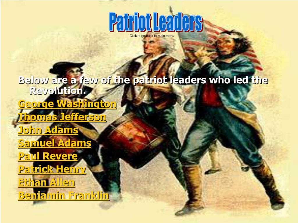Patriot Leaders