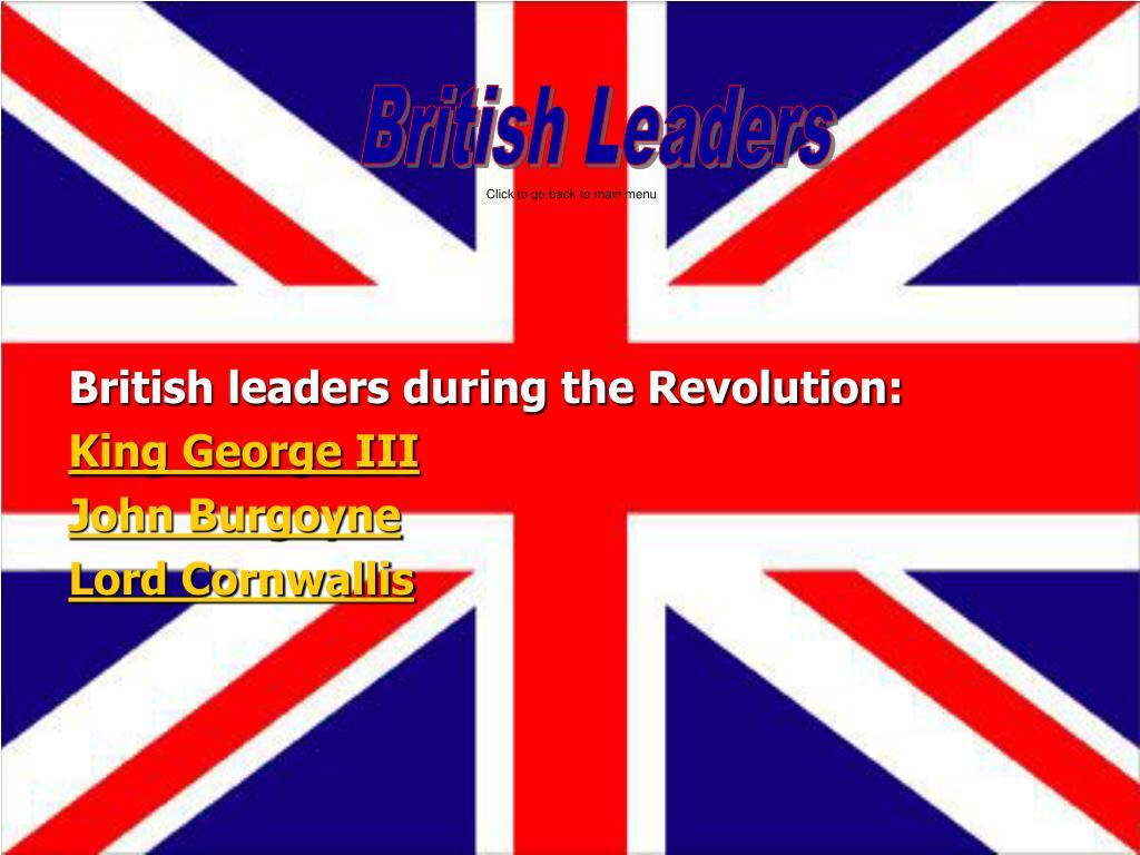 British Leaders